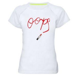 Women's sports t-shirt Oops