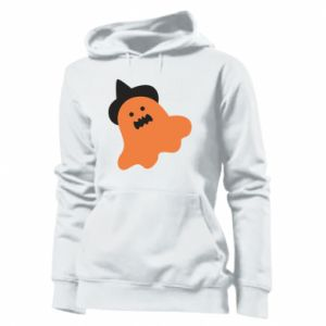 Women's hoodies Orange ghost in hat - PrintSalon
