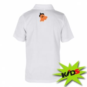 Children's Polo shirts Orange ghost in hat - PrintSalon