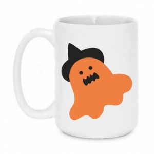 Mug 450ml Orange ghost in hat - PrintSalon