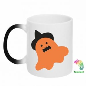 Chameleon mugs Orange ghost in hat - PrintSalon