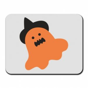 Mouse pad Orange ghost in hat - PrintSalon