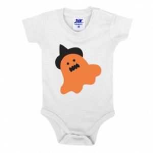 Baby bodysuit Orange ghost in hat - PrintSalon