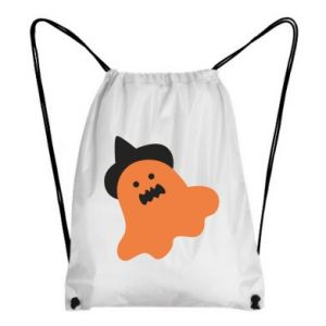 Backpack-bag Orange ghost in hat - PrintSalon