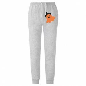 Męskie spodnie lekkie Orange ghost in hat