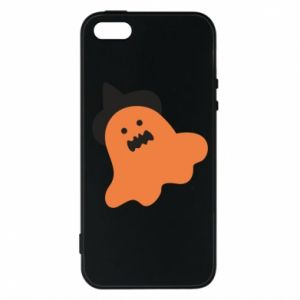 Phone case for iPhone 5/5S/SE Orange ghost in hat - PrintSalon