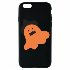 Phone case for iPhone 6/6S Orange ghost in hat - PrintSalon