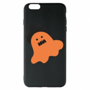 Phone case for iPhone 6 Plus/6S Plus Orange ghost in hat - PrintSalon