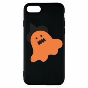 Phone case for iPhone 7 Orange ghost in hat - PrintSalon