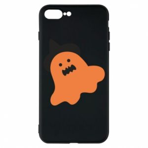 Phone case for iPhone 7 Plus Orange ghost in hat - PrintSalon