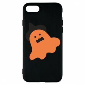 Phone case for iPhone 8 Orange ghost in hat - PrintSalon