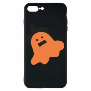 Phone case for iPhone 8 Plus Orange ghost in hat - PrintSalon