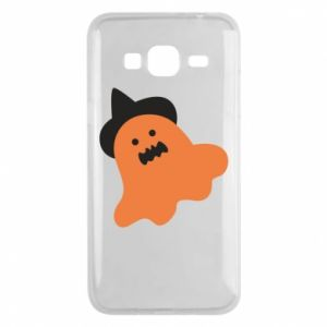 Phone case for Samsung J3 2016 Orange ghost in hat - PrintSalon