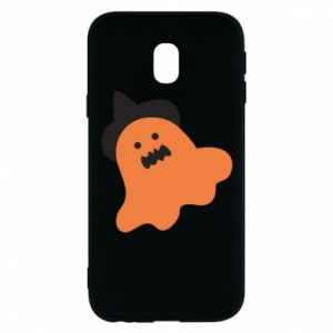 Phone case for Samsung J3 2017 Orange ghost in hat - PrintSalon