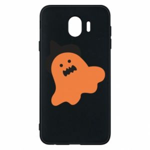 Phone case for Samsung J4 Orange ghost in hat - PrintSalon