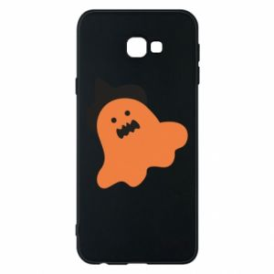 Phone case for Samsung J4 Plus 2018 Orange ghost in hat - PrintSalon