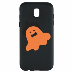 Phone case for Samsung J5 2017 Orange ghost in hat - PrintSalon
