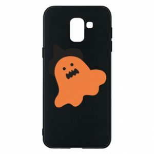 Phone case for Samsung J6 Orange ghost in hat - PrintSalon