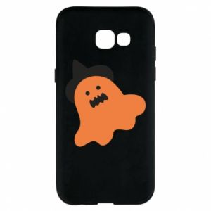 Phone case for Samsung A5 2017 Orange ghost in hat - PrintSalon
