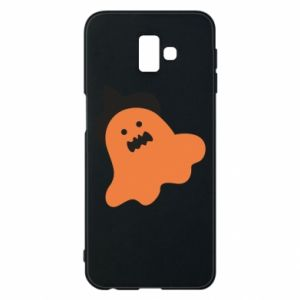 Phone case for Samsung J6 Plus 2018 Orange ghost in hat - PrintSalon