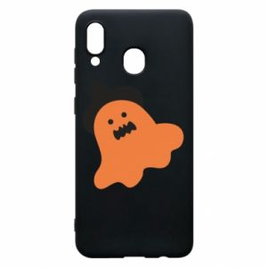 Phone case for Samsung A20 Orange ghost in hat - PrintSalon