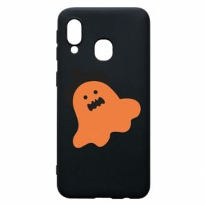 Phone case for Samsung A40 Orange ghost in hat - PrintSalon