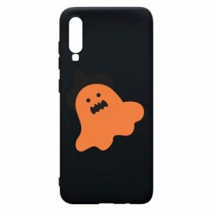 Phone case for Samsung A70 Orange ghost in hat - PrintSalon