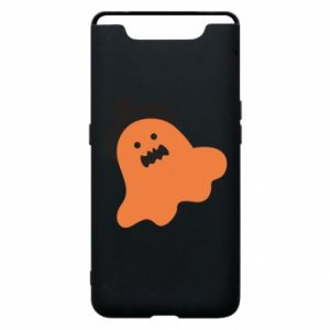 Phone case for Samsung A80 Orange ghost in hat - PrintSalon