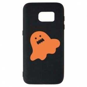 Phone case for Samsung S7 Orange ghost in hat - PrintSalon