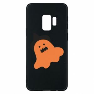 Phone case for Samsung S9 Orange ghost in hat - PrintSalon