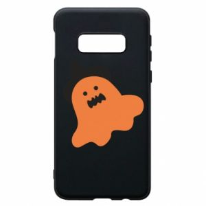 Phone case for Samsung S10e Orange ghost in hat - PrintSalon