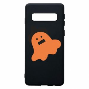 Phone case for Samsung S10 Orange ghost in hat - PrintSalon