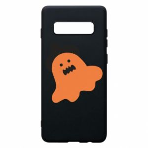 Phone case for Samsung S10+ Orange ghost in hat - PrintSalon