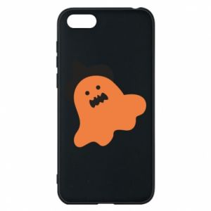 Phone case for Huawei Y5 2018 Orange ghost in hat - PrintSalon
