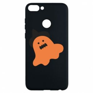 Phone case for Huawei P Smart Orange ghost in hat - PrintSalon