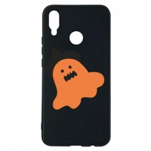 Phone case for Huawei P Smart Plus Orange ghost in hat - PrintSalon