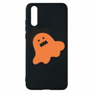 Phone case for Huawei P20 Orange ghost in hat - PrintSalon