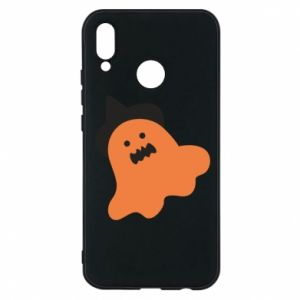 Phone case for Huawei P20 Lite Orange ghost in hat - PrintSalon