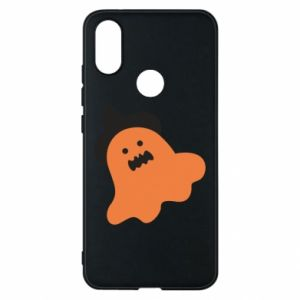 Phone case for Xiaomi Mi A2 Orange ghost in hat - PrintSalon