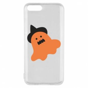 Phone case for Xiaomi Mi6 Orange ghost in hat - PrintSalon