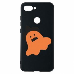 Phone case for Xiaomi Mi8 Lite Orange ghost in hat - PrintSalon