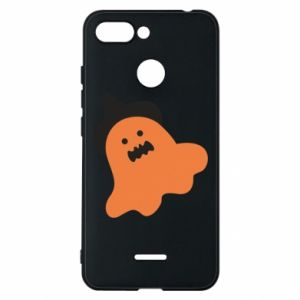 Phone case for Xiaomi Redmi 6 Orange ghost in hat - PrintSalon