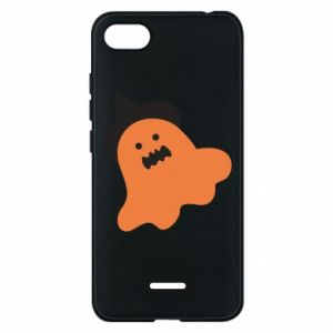 Phone case for Xiaomi Redmi 6A Orange ghost in hat - PrintSalon