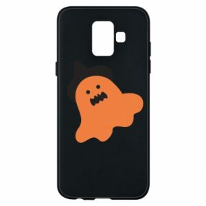 Phone case for Samsung A6 2018 Orange ghost in hat - PrintSalon