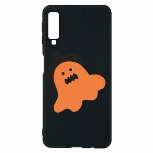 Phone case for Samsung A7 2018 Orange ghost in hat - PrintSalon