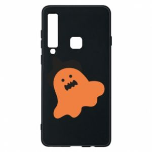 Phone case for Samsung A9 2018 Orange ghost in hat - PrintSalon