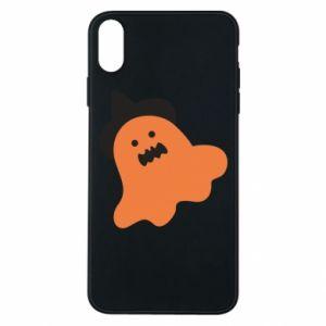 Etui na iPhone Xs Max Orange ghost in hat