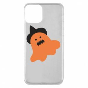 Etui na iPhone 11 Orange ghost in hat
