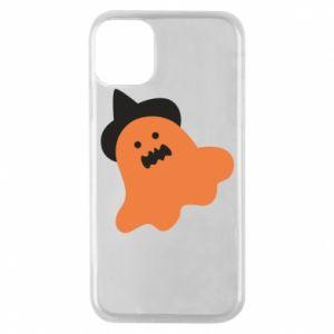 Etui na iPhone 11 Pro Orange ghost in hat