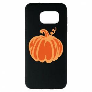 Etui na Samsung S7 EDGE Orange pumpkin
